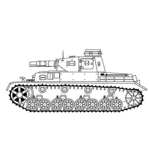 Leuk Voor Kids Kleurplaat Duitse Tank Panzer Iv E With Images