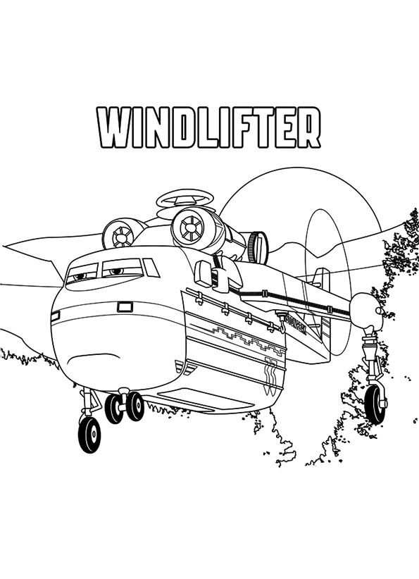 Windlifter Kleurplaat Coloring Pages Disney Coloring Pages