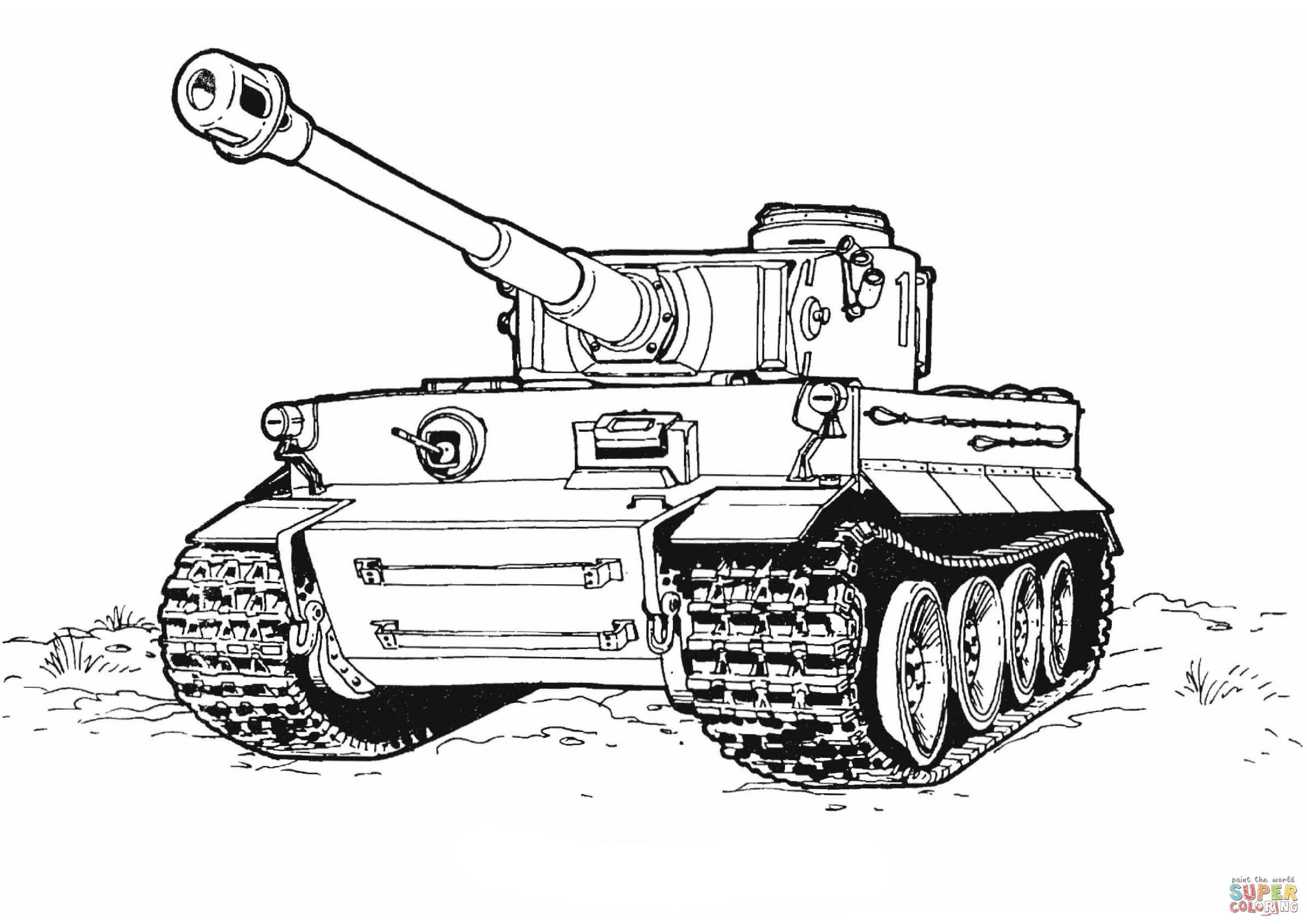 Tiger Tank Coloring Page From Tanks Category Select From 27260
