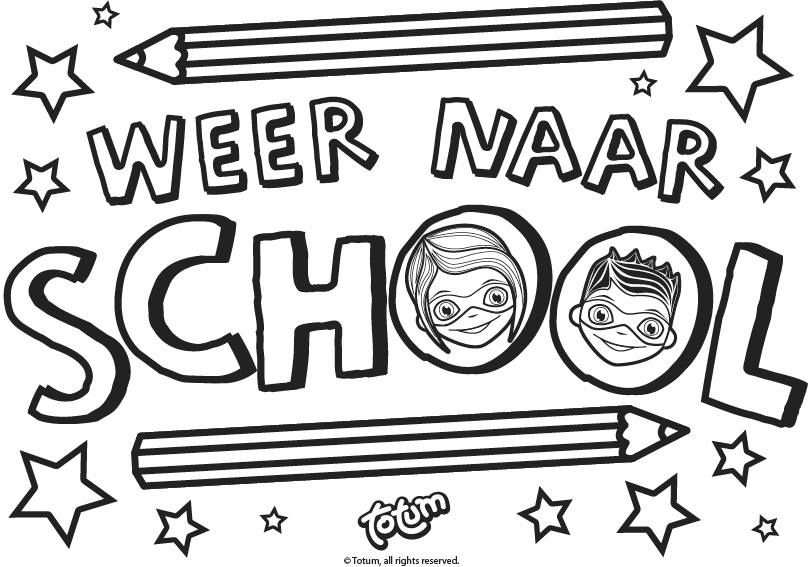 Kleurplaat Coloring Tess En Tom Totum Back To School