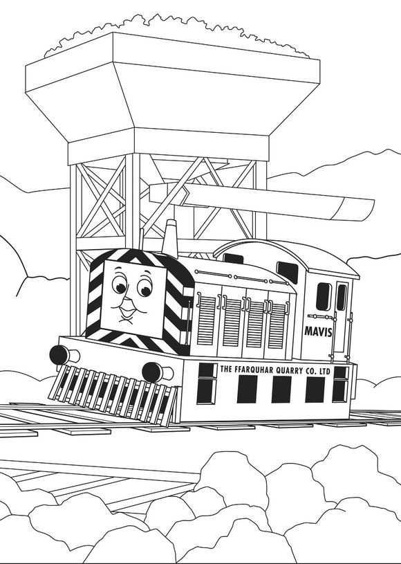 Kleurplaat Thomas De Trein Thomas De Trein Train Coloring Pages