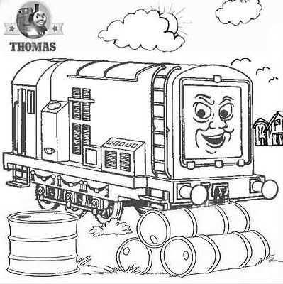 Thomas And Friends Diesel Does It Again Kleurplaten Thomas De