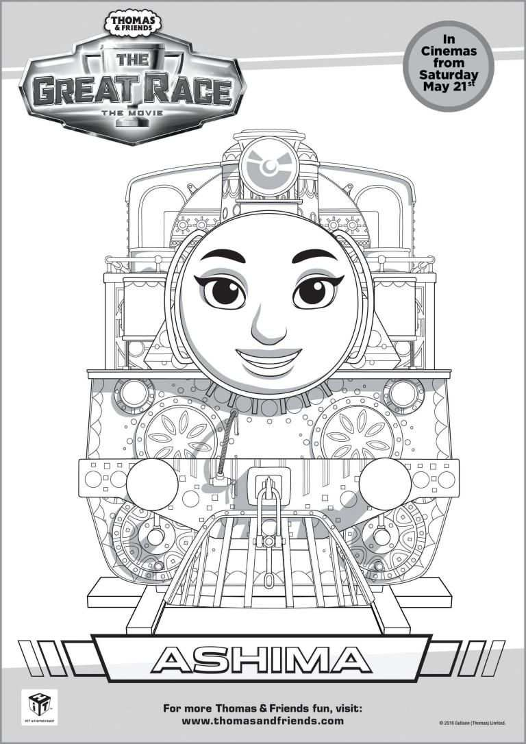 Thomas Friends The Great Race Colouring Pages In 2020 Met