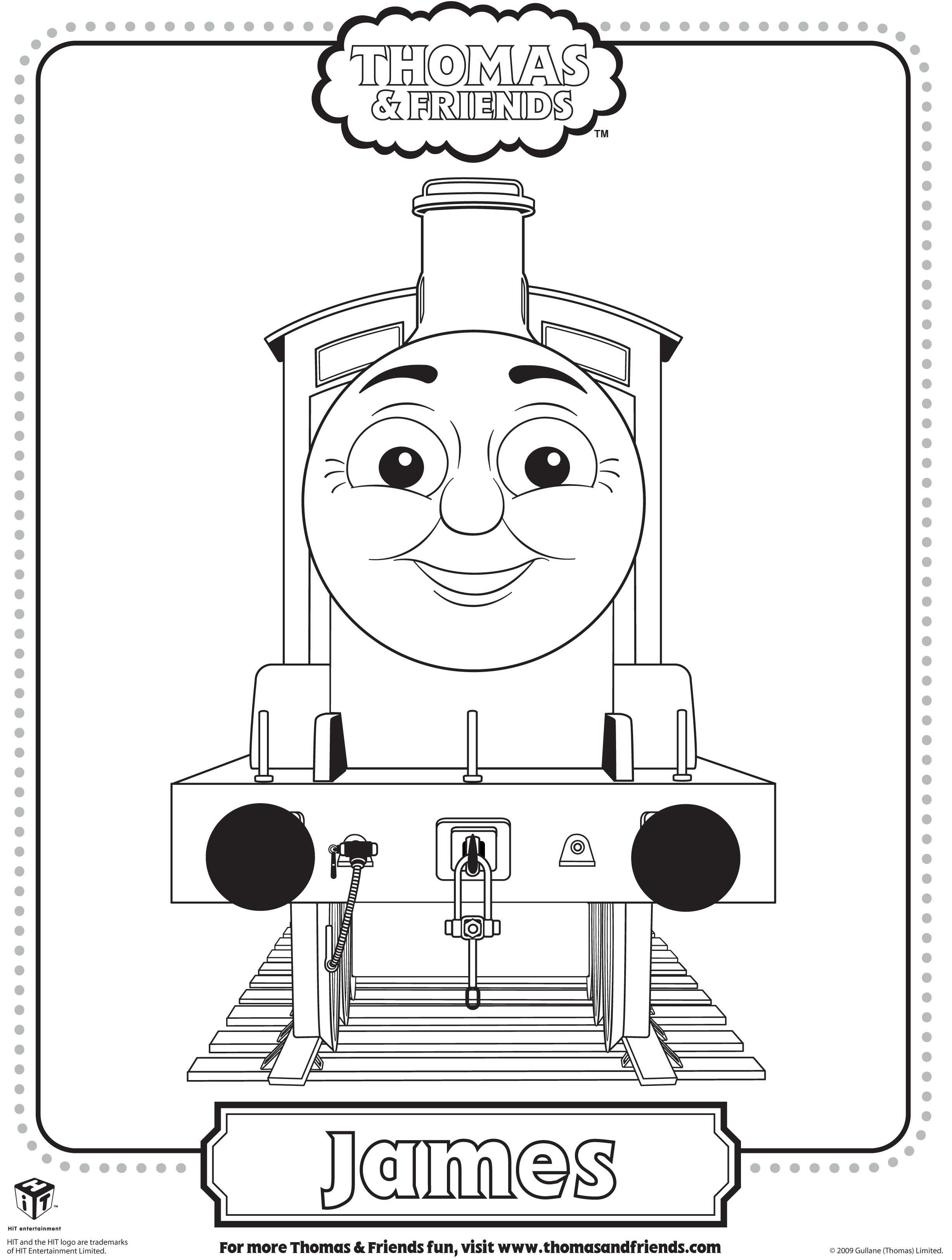 Colouring Pages Of James In Thomas Tank Google Search Train