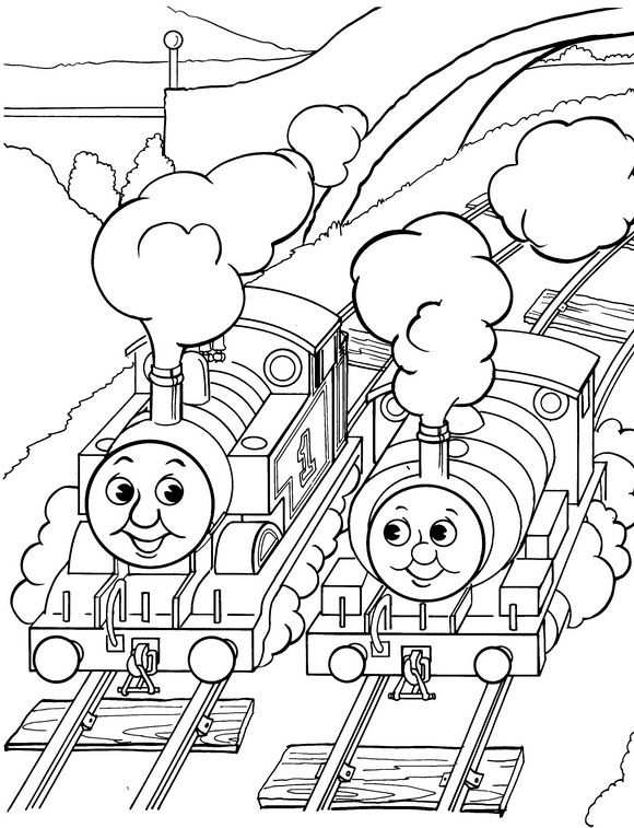 Coloring Page Thomas The Train Thomas The Train Gratis