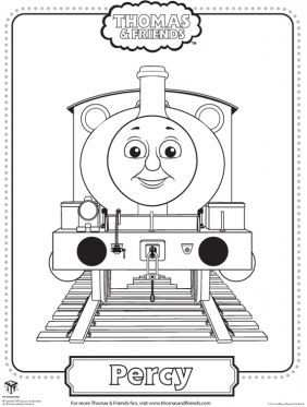 Percy Coloring Page Thomas Friends Coloring Pages For Kids