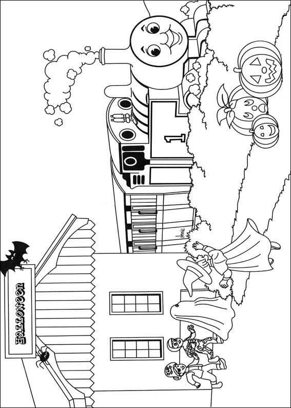 Coloring Page Thomas The Train Thomas The Train Met Afbeeldingen