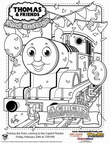Thomas The Train Birthday Coloring Pages Google Search