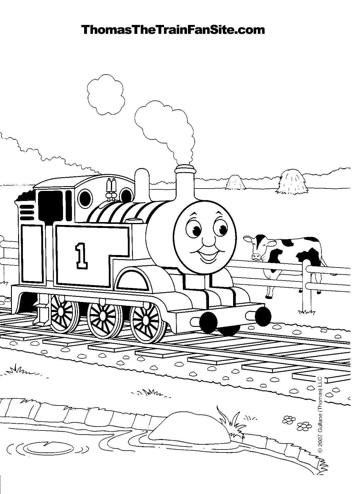 Tomas Colouring Sheets Thomas The Tank Engine Coloring Pages Id