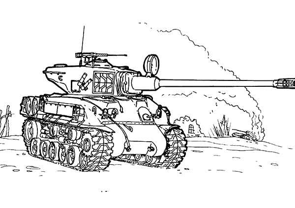 Car Coloring Pages War Tank At The Beach In Army Car Coloring