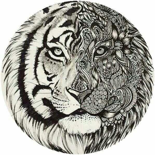 Adult Tiger Coloring Page Dieren Kleurplaten Mandala