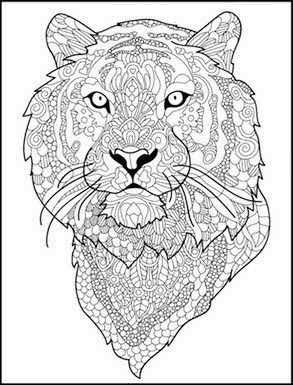 Pin Van Barbara Op Coloring Lion Tiger Kleurplaten Tekenen Tijger