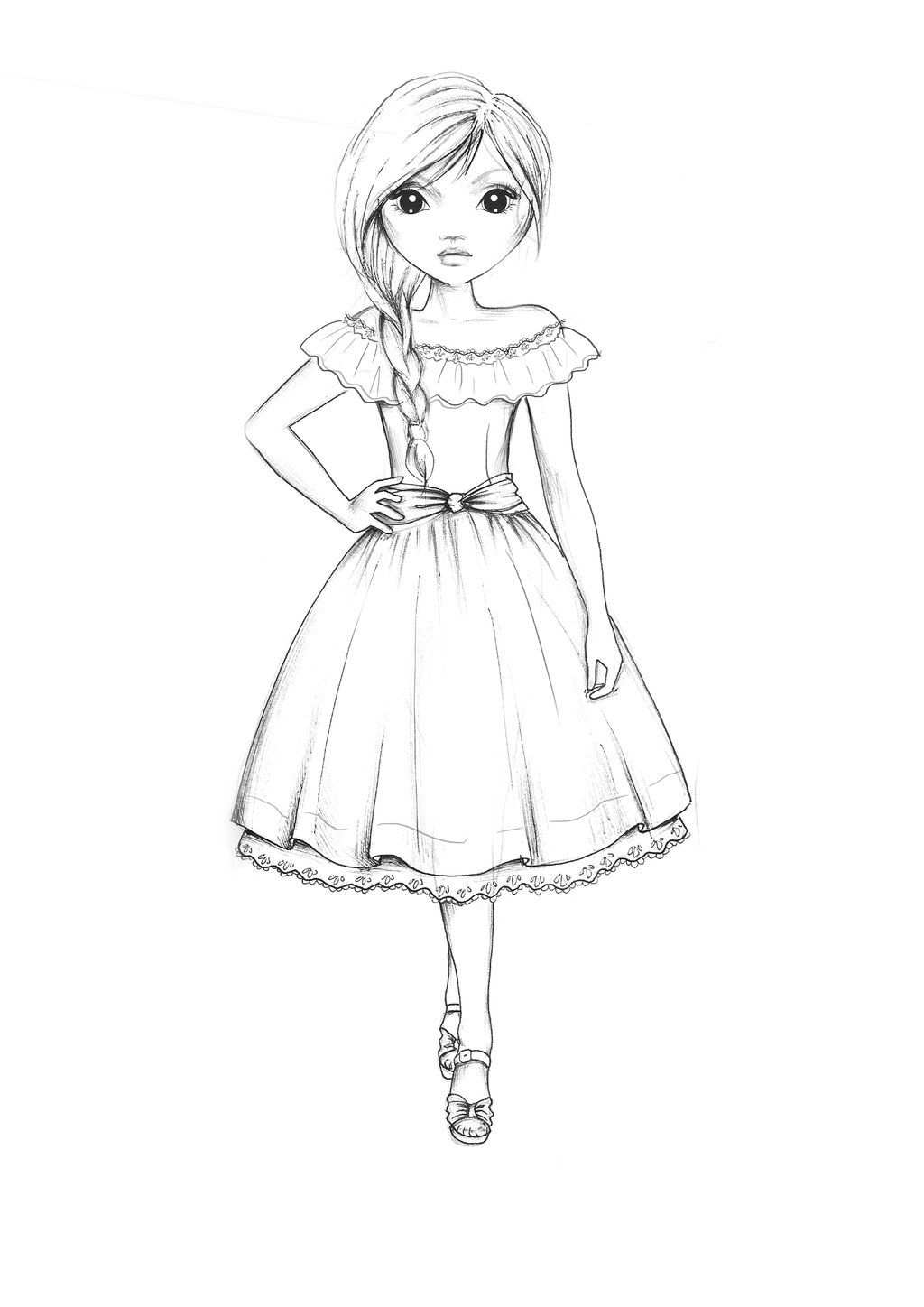 Country Style Dress Outline By Funandcake On Deviantart Mit