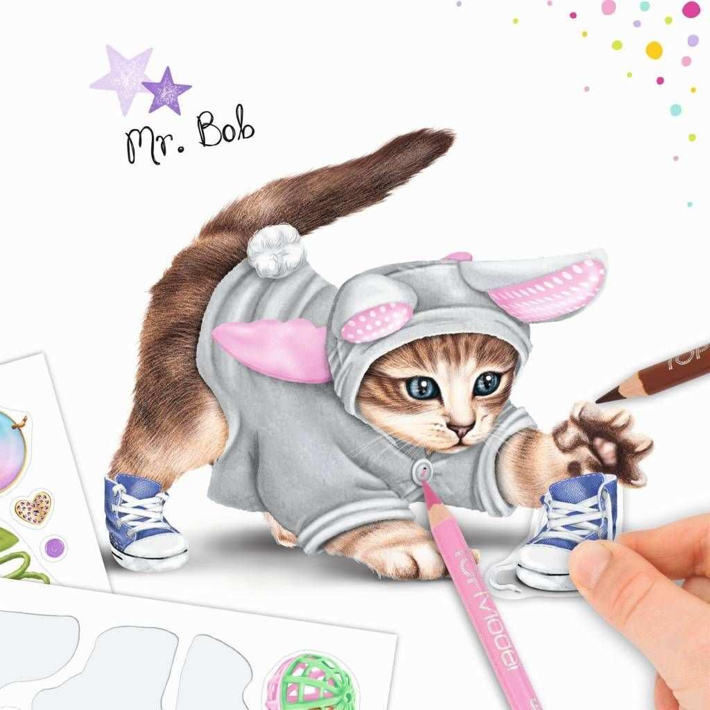 Kleurboek Create Your Kitty Top Model En Meer Van Topmodels