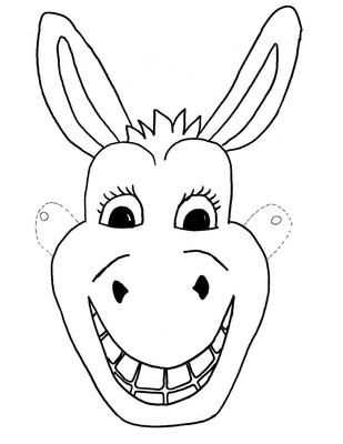 Template Free Kids Mask Donkey Craft Children Dieren Knutselen