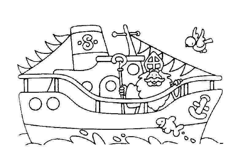 Stoomboot Sinterklaas Kleurplaat Google Zoeken With Images