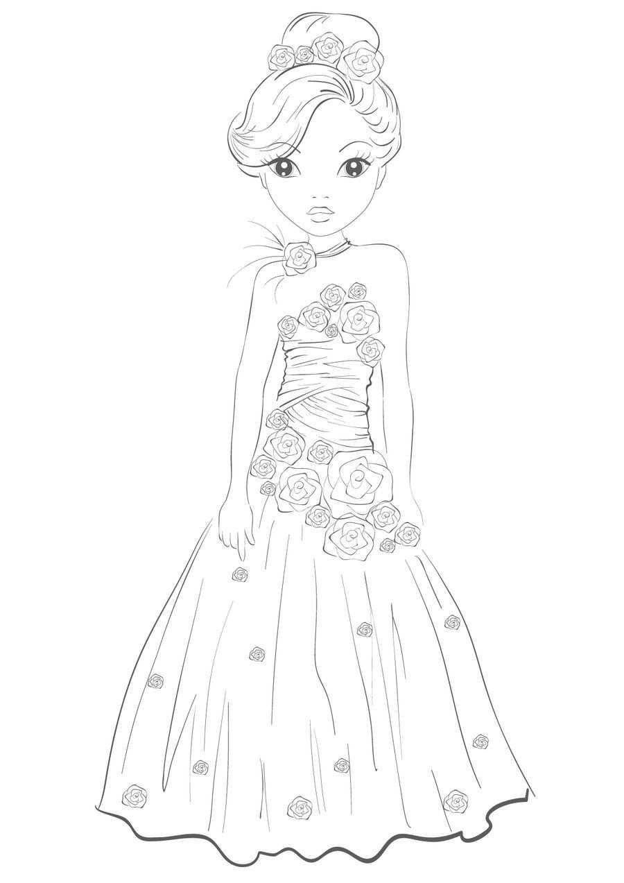 How To Draw Princess Dresses Mit Bildern Topmodel Ausmalbilder