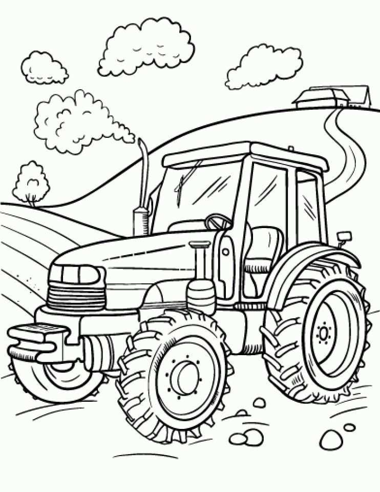 Newest Images Farm Coloring Sheets Suggestions Tractor Coloring