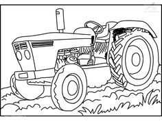 Kleurplaat Tractor Coloring Pages To Print Farm Coloring Pages