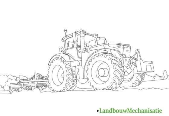 Landbouwmechanisatie Kleurplaat Deel 2 Fendt Landbouwmechanisatie