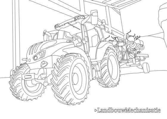 Landbouwmechanisatie Kleurplaat Deel 3 Steyr Landbouwmechanisatie