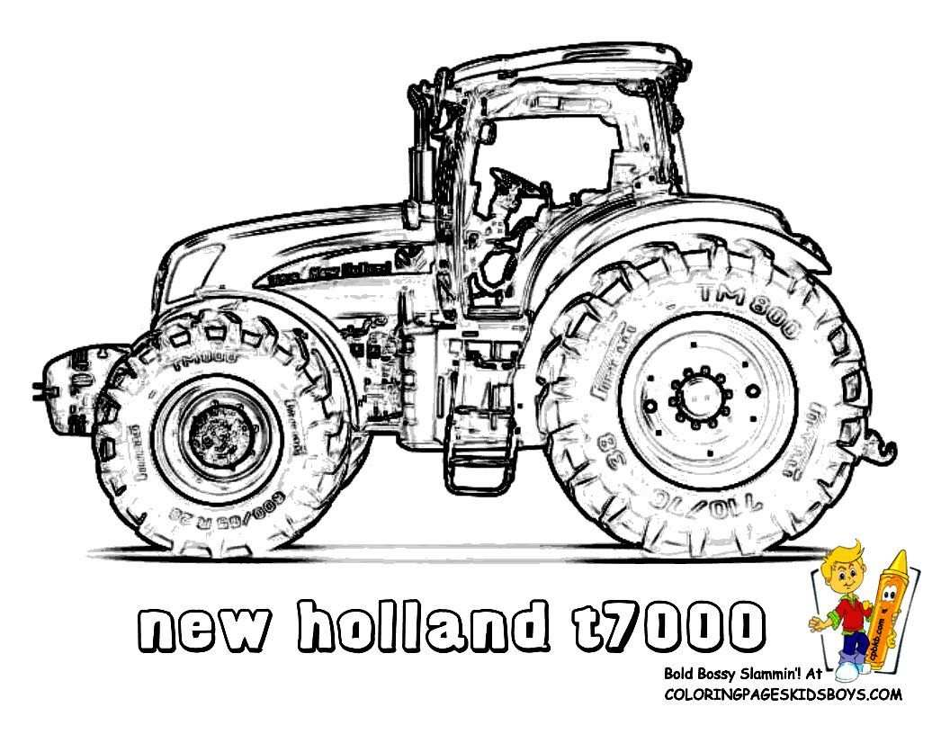 Big Boss Tractor Coloring Pages To Print With Images Tractor