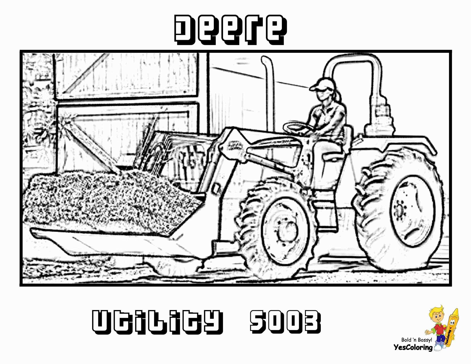 24 Printable Tractor Coloring Pages In 2020 Kleurplaten Tractor