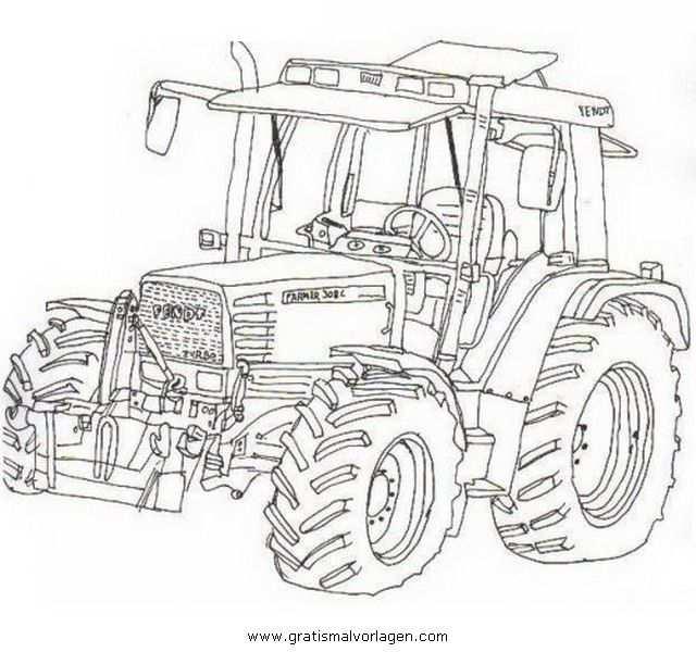Ausmalbilder Traktor Fendt Sketches Coloring Pages Art