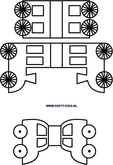 Autootjes En Treintje Met Wagonnetjes Traktaties Knutselen