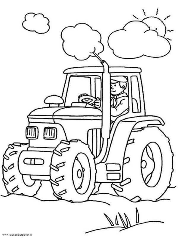 Kleurplaat Tractor Google Zoeken Kleurplaten Boek Bladzijden