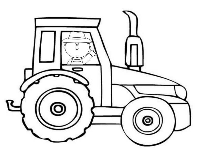 Printable Fun Tractor Coloring Pages For Kids Kleurplaten