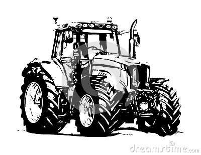Tractor Drawing Stock Photos Images Pictures 1 185 Images