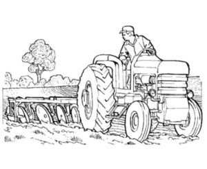 25 Best Tractor Coloring Pages To Print Tractor Coloring Pages