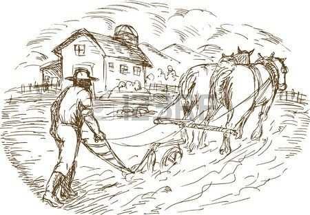 Stock Photo Met Afbeeldingen Illustratie Schets Paarden