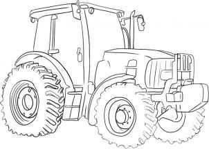 How To Draw A Tractor By Dawn Tractor Coloring Pages Coloring
