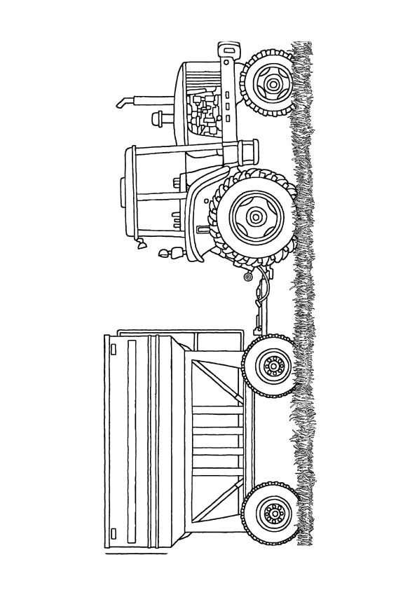 The Monster Tractor Coloring Page Farm Party Tractor Coloring