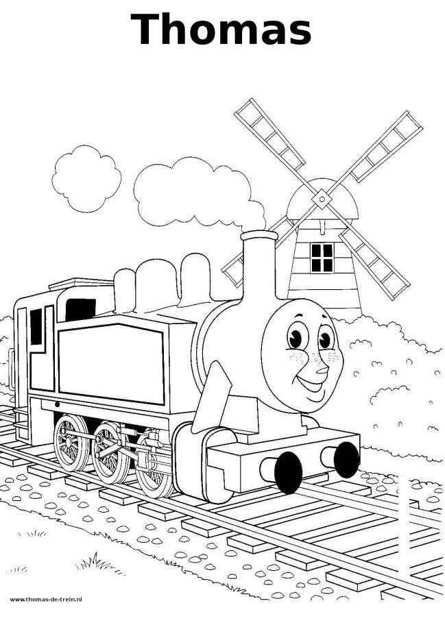 Thomas De Trein Kleurplaat Thomas Train Coloring Met