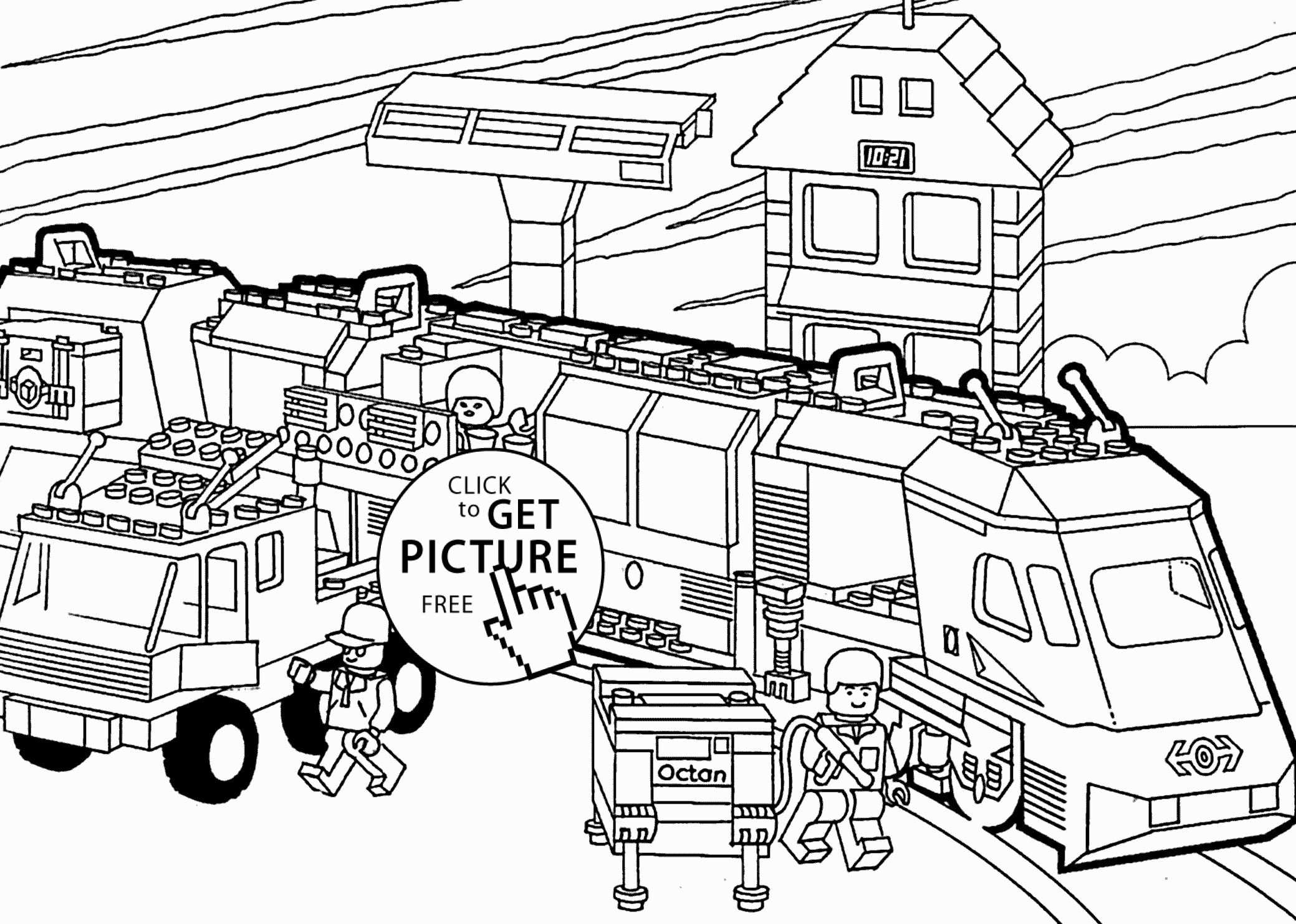 Printable Train Coloring Page Unique Lego Train Coloring Page For