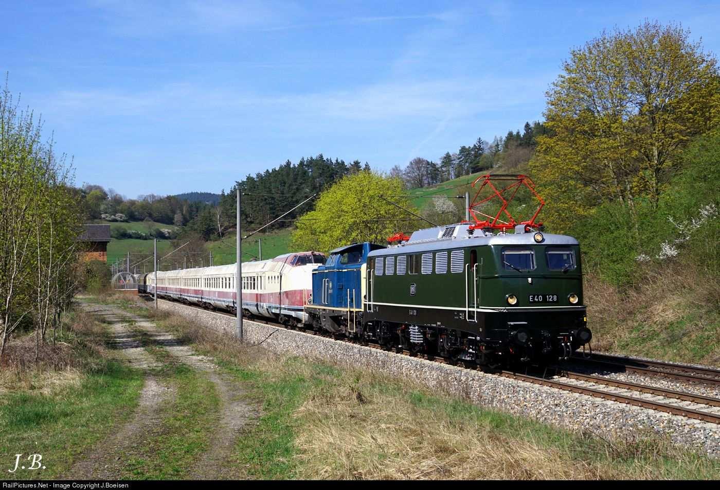 E40 128 212 372 Db Ag E40 At Markgolitz Germany By J Boeisen