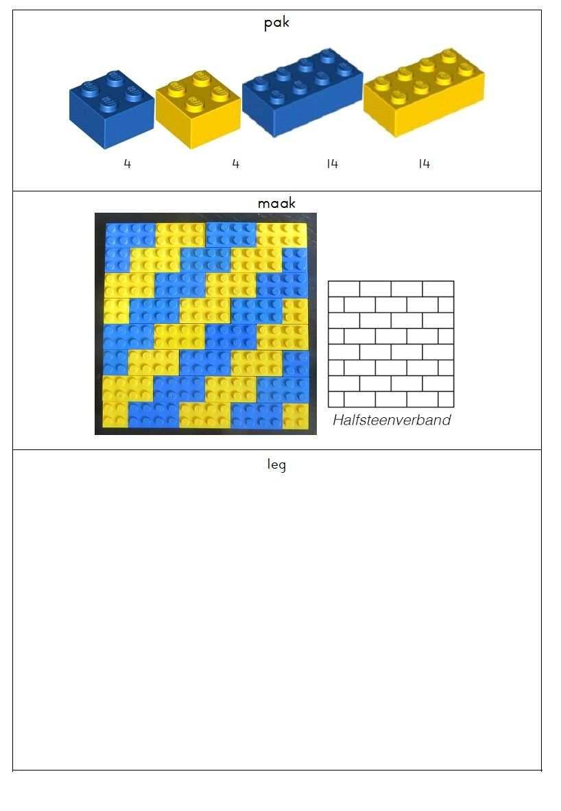 Eenvoudig Bouwwerk Van Lego Te Gebruiken In Het Zmlk Of Bij Jonge