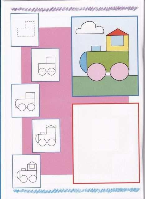 Trein Tekenen Met Kleuters Kind Tekening Eenvoudige Tekeningen