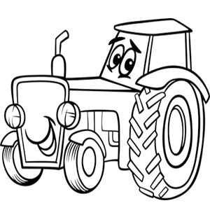 Kleurplaat Tractor Kleurplaten Digitale Stempels Tractor