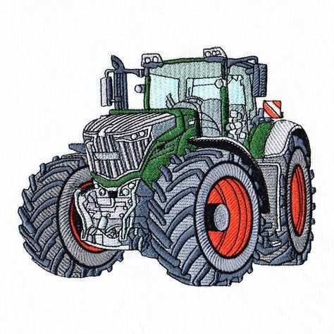 Fendt 1050 Tractor 5x7 Fendt Maschinenstickmuster Kostenlose