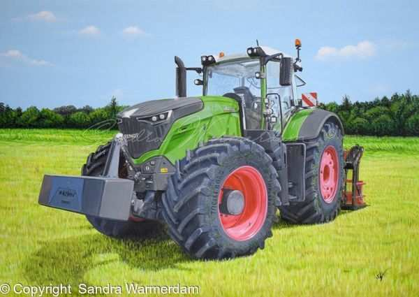 Fendt 1050 Vario Style Painting A3 Acrylic On Paper Board With