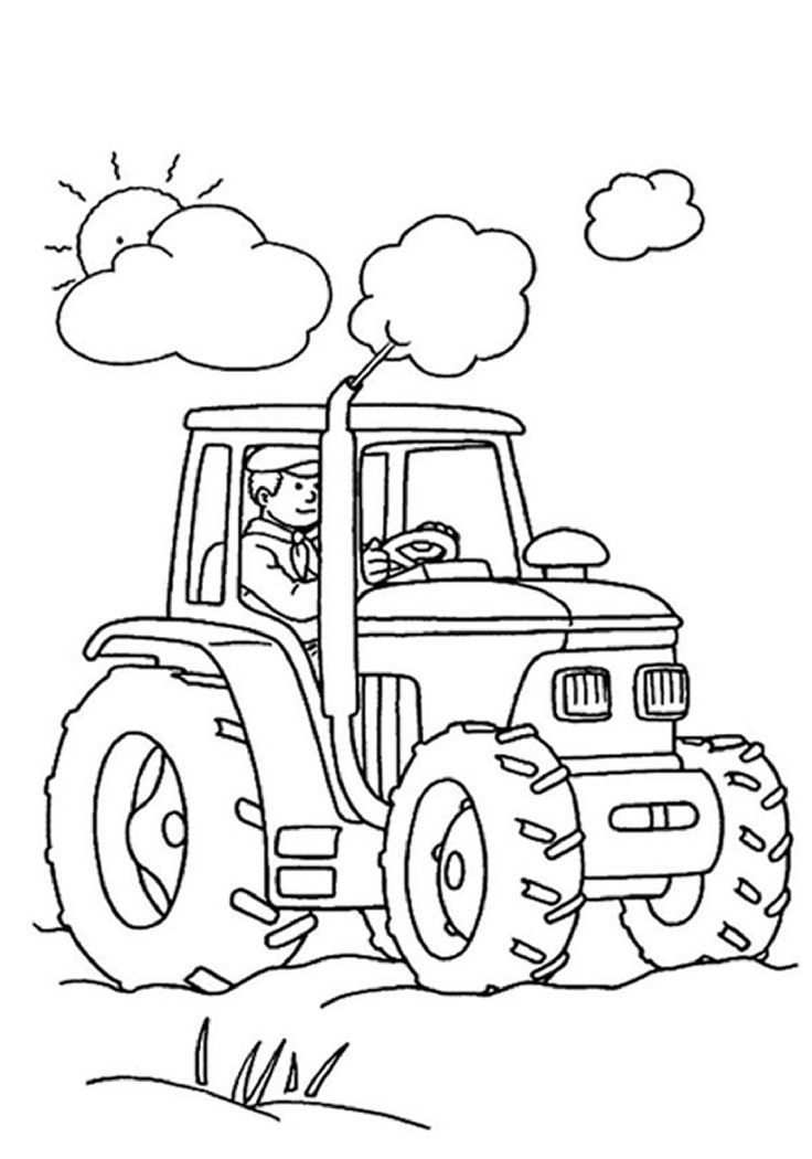 Top 25 Free Printable Tractor Coloring Pages Online Tractor