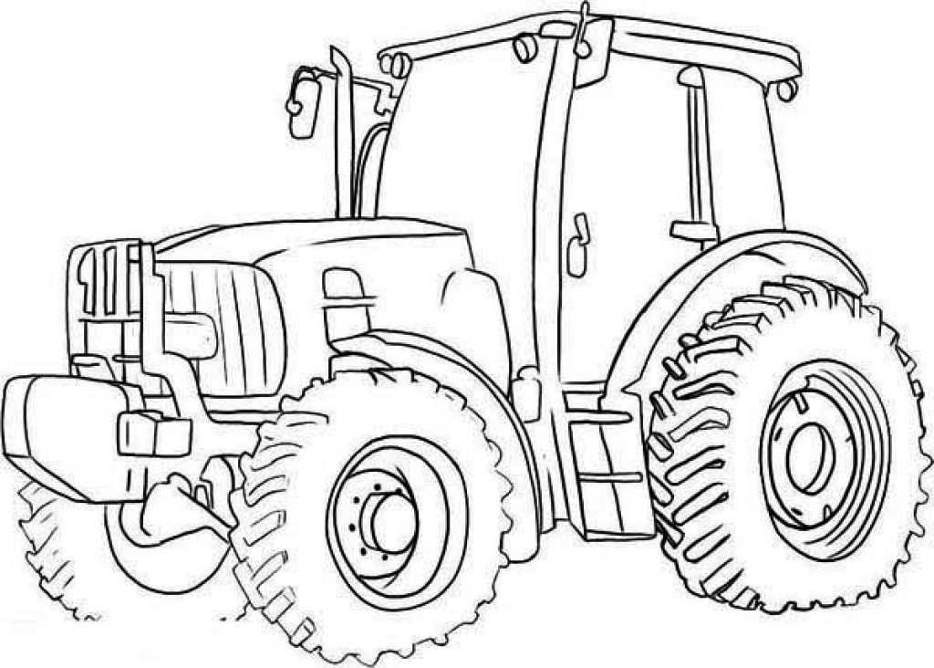 Free Tractor Coloring Pages Printable Met Afbeeldingen