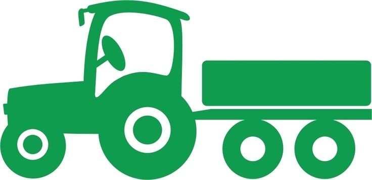 Tractor Met Aanhanger Tractor Silhouette Silhouette Cameo