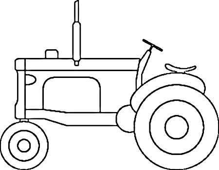 Tractor Coloring Page Kleurplaten Tractor Sjablonen