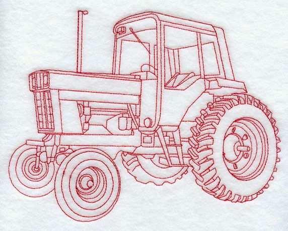 Tractor Iii Redwork Borduren En Hout