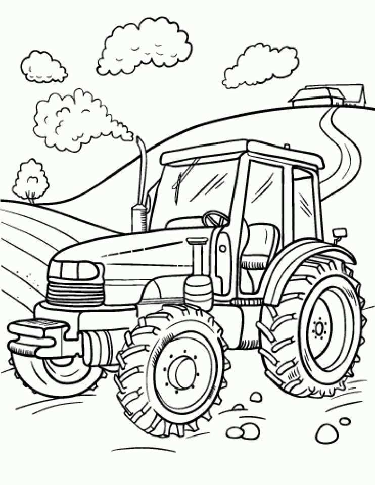 Farm Coloring Pages With Images Tractor Coloring Pages Farm